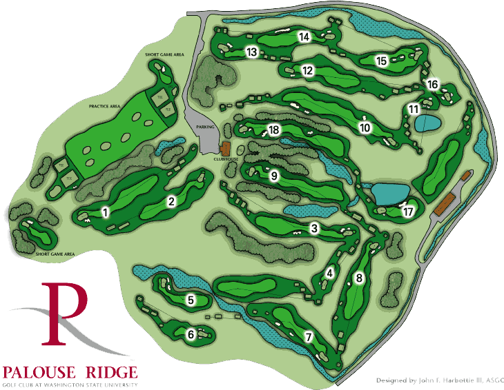 Golf Course Map Course Map   Palouse Ridge Golf Club Palouse Ridge Golf Club  Golf Course Map